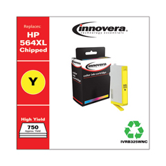 IVRB325WNC - Innovera Remanufactured High-Yield CB325WN (564XL) Ink, 750 Page-Yield, Yellow