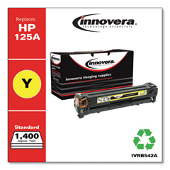 IVRB542A - Innovera Remanufactured CB542A (125A) Laser Toner, 1400 Yield, Yellow