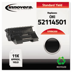 IVRB6200 - Innovera Remanufactured 52114501 (B6200) Toner, 11000 Page-Yield, Black