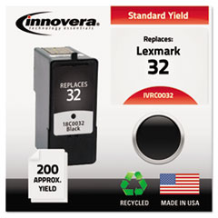 IVRC0032 - Innovera Remanufactured 18C0032 (#32) Ink, 200 Yield, Black