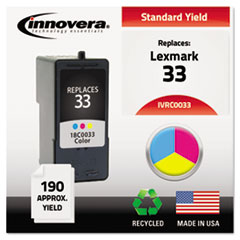 IVRC0033 - Innovera Remanufactured 18C0033 (#33) Ink, 190 Yield, Tri-Color