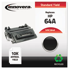 IVRC364A - Innovera Remanufactured CC364A (64A) Laser Toner, 10000 Yield, Black