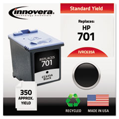 IVRC635A - Innovera Remanufactured CC635A (701) Ink, 350 Page-Yield, Black