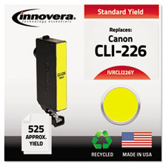 IVRCLI226Y - Innovera Remanufactured 4549B001 (CLI-226Y) Ink, 525 Page-Yield, Yellow