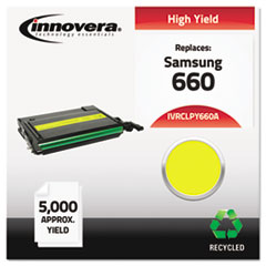 IVRCLPY660A - Innovera Remanufactured CLP-Y660A  (660) Toner, 5000 Page Yld, Yellow