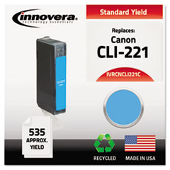 IVRCNCLI221C - Innovera Remanufactured 2947B001 (CLI221) Ink, 535 Yield, Cyan