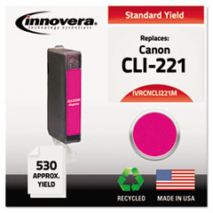 IVRCNCLI221M - Innovera Remanufactured 2948B001 (CLI221) Ink, 530 Yield, Magenta