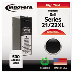 IVRD22BXL - Innovera Remanufactured 330-5885 (21XL/22XL) High-Yld Ink, 500 Page-Yld, Blk