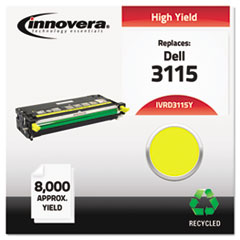 IVRD3115Y - Innovera Remanufactured 310-8401 (3115) Toner, 8000 Yield, Yellow