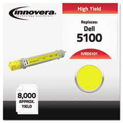 IVRD5101 - Innovera Compatible with 310-5808 (5100) Toner, 8000 Yield, Yellow
