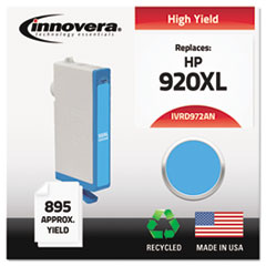 IVRD972ANC - Innovera Remanufactured CD972AN (920XL) Ink, 700 Page-Yield, Cyan