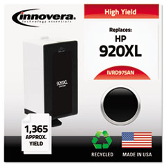 IVRD975ANC - Innovera Remanufactured CD975AN (920XL) High Yield Ink, 1200 Page-Yield, Black