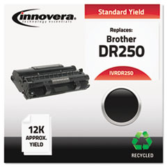 IVRDR250 - Innovera Remanufactured DR250 Drum Cartridge, 12000 Page-Yield, Black