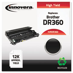IVRDR360 - Innovera Remanufactured DR360 Drum Unit, 12000 Page-Yield, Black