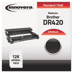 IVRDR420 - Innovera Remanufactured DR420 Drum, 12000 Page-Yield, Black