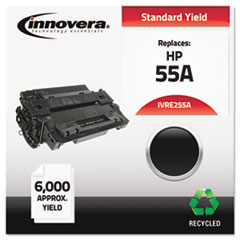 IVRE255A - Innovera Remanufactured CE255A (55A) Laser Toner, 6000 Yield, Black