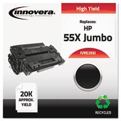IVRE255J - Innovera Remanufactured CE255X(J) (55J)  Toner, 18000 Yield, Black
