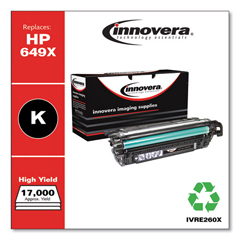 IVRE260X - Innovera Remanufactured CE260X (649X) Laser Toner, 17000 Yield, Black