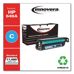 IVRE261A - Innovera Remanufactured CE261A (648A) Laser Toner, 11000 Yield, Cyan