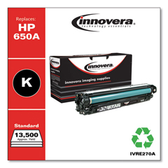 IVRE270A - Innovera Remanufactured CE270A (5525) Toner, 13500 Page-Yield, Black