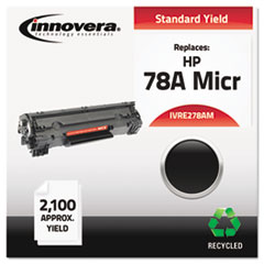 IVRE278AM - Innovera Remanufactured CE278A (78A) MICR Toner, 2100 Page-Yield, Black