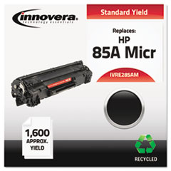IVRE285AM - Innovera Remanufactured CE285A (85A) MICR Toner, 1600 Page-Yield, Black