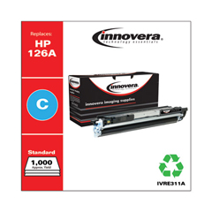 IVRE311A - Innovera E311A Compatible, Remanufactured, 126A (CE311A) Toner, 1000 Page-Yield, Cyan