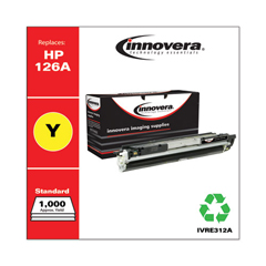IVRE312A - Innovera E312A Compatible, Remanufactured, 126A (CE312A) Toner, 1000 Page-Yield, Yellow