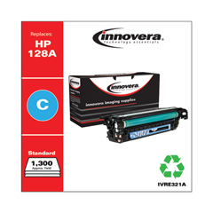 IVRE321A - Innovera Remanufactured CE321A (128A) Laser Toner, 1300 Yield, Cyan