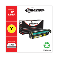 IVRE322A - Innovera Remanufactured CE322A (128A) Laser Toner, 1300 Yield, Yellow
