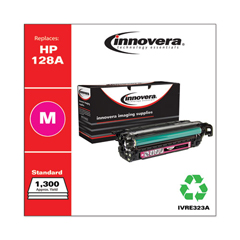 IVRE323A - Innovera Remanufactured CE323A (128A) Laser Toner, 1300 Yield, Magenta