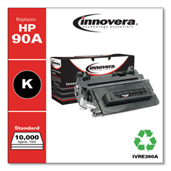 IVRE390A - Innovera Remanufactured CE390A (90A) Toner, 10000 Page-Yield, Black