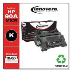 IVRE390AM - Innovera Remanufactured CE390A(M)(90A MICR), MICR Toner, 10000 Page-Yield, Blk