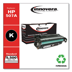 IVRE400A - Innovera Remanufactured CE400A (M551) Toner, 5500 Page-Yield, Black