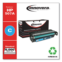 IVRE401A - Innovera Remanufactured CE401A (M551) Toner, 6000 Page-Yield, Cyan