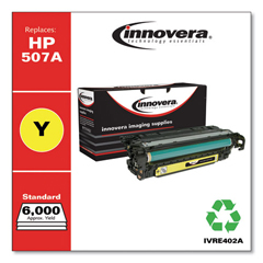 IVRE402A - Innovera Remanufactured CE402A (M551) Toner, 6000 Page-Yield, Yellow