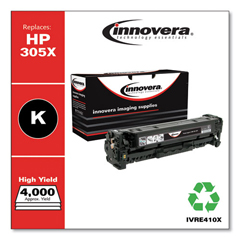 IVRE410X - Innovera Remanufactured CE410X (305A) High-Yield Toner, 4000 Page-Yield, Black
