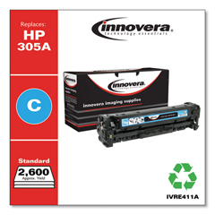 IVRE411A - Innovera Remanufactured CE411A (305A) Toner, 2600 Page-Yield, Cyan