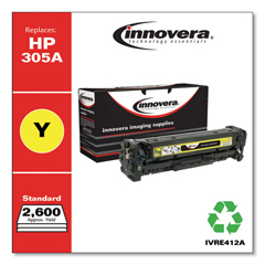 IVRE412A - Innovera Remanufactured CE412A (305A) Toner, 2600 Page-Yield, Yellow
