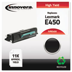 IVRE450 - Innovera Remanufactured E450A11A (E450) Toner, 11000 Page-Yield, Black
