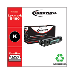 IVRE460X11A - Innovera Remanufactured E460X11A (E460DN) Toner, 15000 Yield, Black