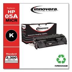IVRE505AM - Innovera Remanufactured CE505A(M) (05) MICR Toner, 2300 Yield, Black