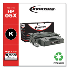 IVRE505X - Innovera Remanufactured CE505X (05X) Laser Toner, 6500 Yield, Black