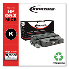IVRE505XM - Innovera Remanufactured CE505X(M) (05X) MICR Toner, 6500 Yield, Black