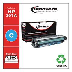 IVRE741A - Innovera Remanufactured CE741A (5525) Toner, 7300 Page-Yield, Cyan