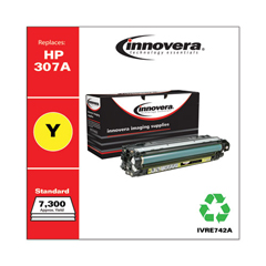 IVRE742A - Innovera Remanufactured CE742A (5525) Toner, 7300 Page-Yield, Yellow