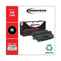 IVRF214X - Innovera Remanufactured CF214X (14X) High-Yield Toner, 17500 Page-Yield, Black