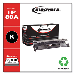 IVRF280A - Innovera Remanufactured CF280A (80A) Toner, 2700 Page-Yield, Black
