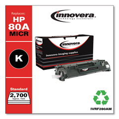 IVRF280AM - Innovera Remanufactured CF280A(M) (80A MICR) Toner, 2700 Page-Yield, Black