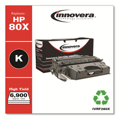 IVRF280X - Innovera Remanufactured CF280X (80X) High-Yield Toner, 6900 Page-Yield, Black